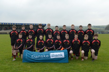 St Eunan's College pictured before their MacRory Cup clash with St Patrick's Cavan last Saturday.