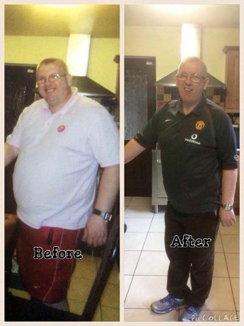 Mickey Blake before and after his weightloss journey with Slimming World.