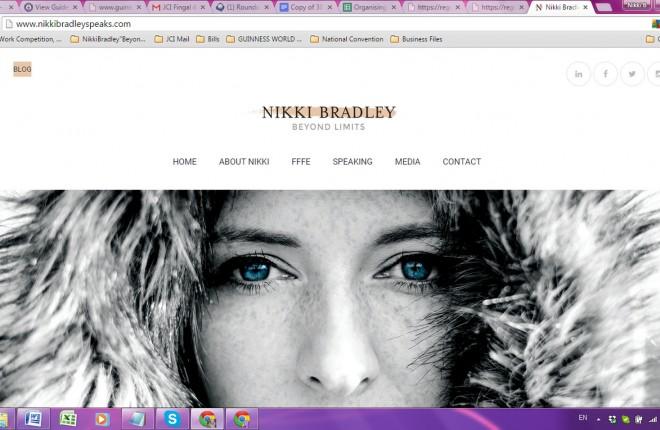 Nikki Bradley's new website.