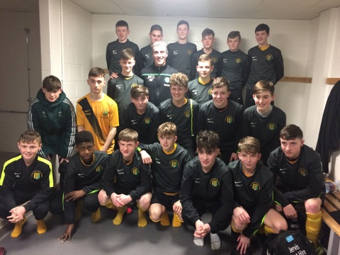 The Donegal Schoolboys Under 15 team with Jim McGuinness