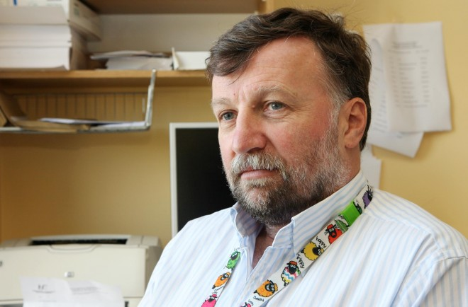 Consultant orthopaedic surgeon Mr. Peter O'Rourke in his office at Letterkenny University Hospital. Picture: Declan Doherty