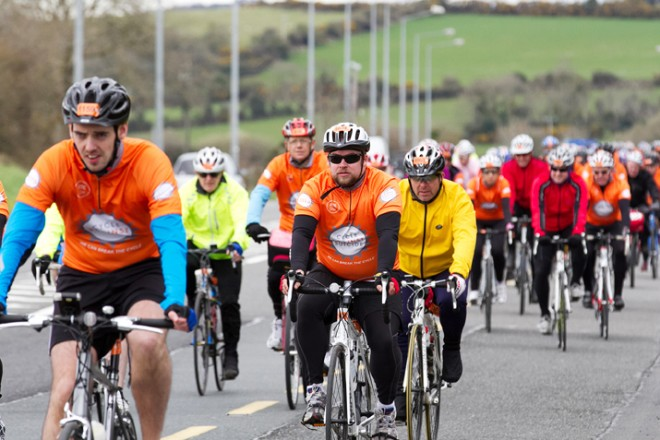 Participants in last year's Cycle Against Suicide.