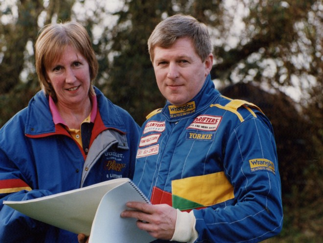 James Cullen with his co-driver the late Ellen Morgan in the early nineties.