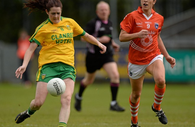 Katy Herron in action for Donegal