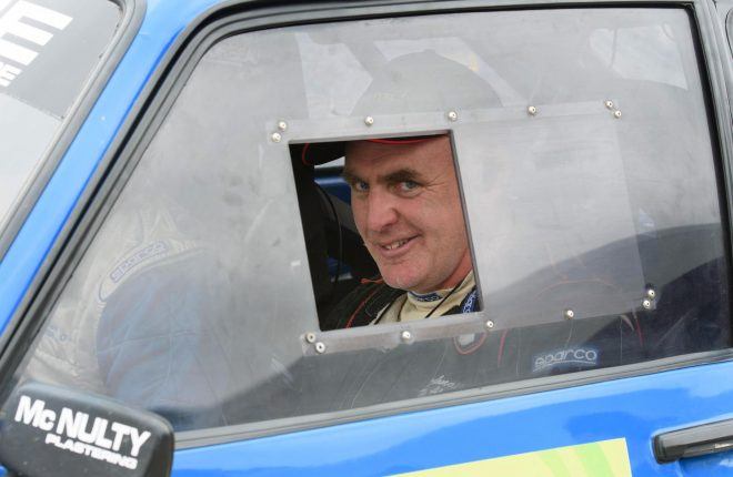 Donal McEleaney at the Joule Donegal International Rally.