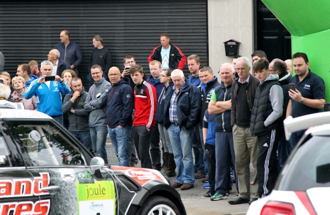 Spectators at the rally.