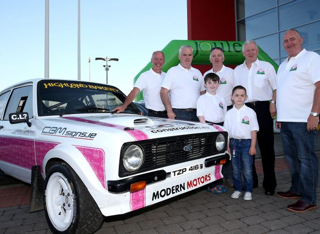 James Cullen and members of the 'Cullen 4 Donegal' team.