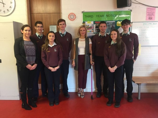 Meeting with students from Loreto Community School, Milford.