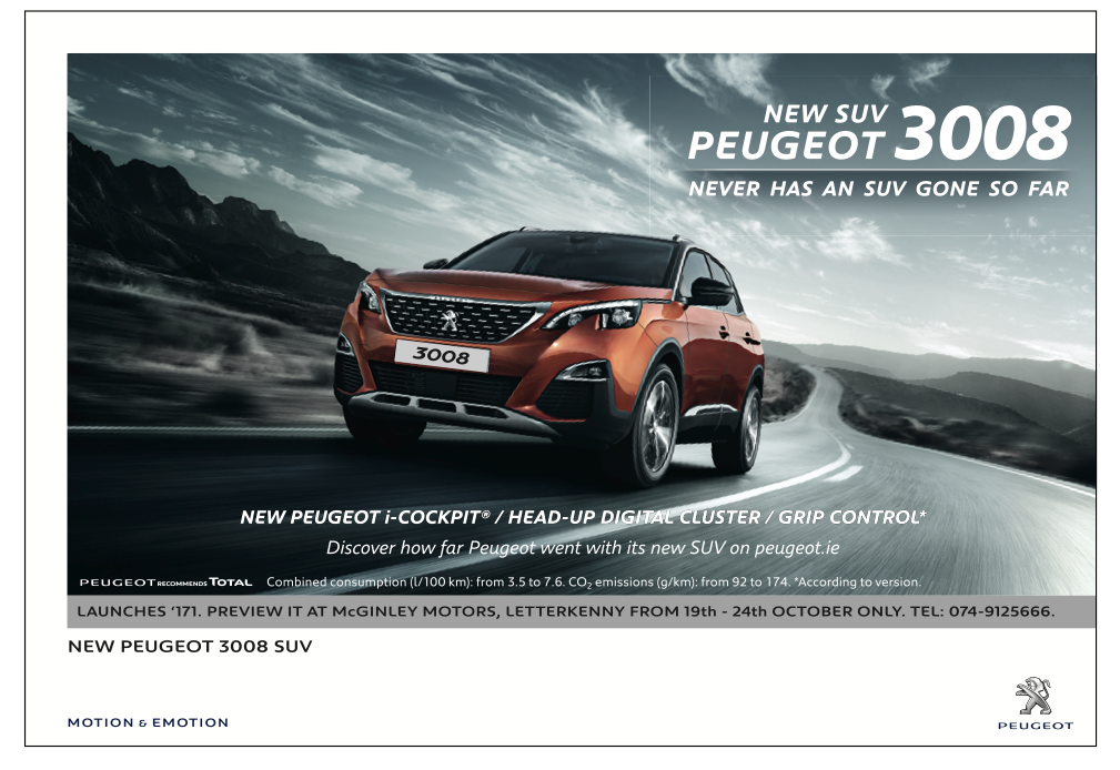 6f3c3a5c3a Take a Sneak Preview of the all new Peugeot 3008 SUV - Donegal News
