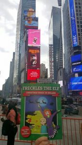 times-square-launch-freckles-the-elf-christmas-book