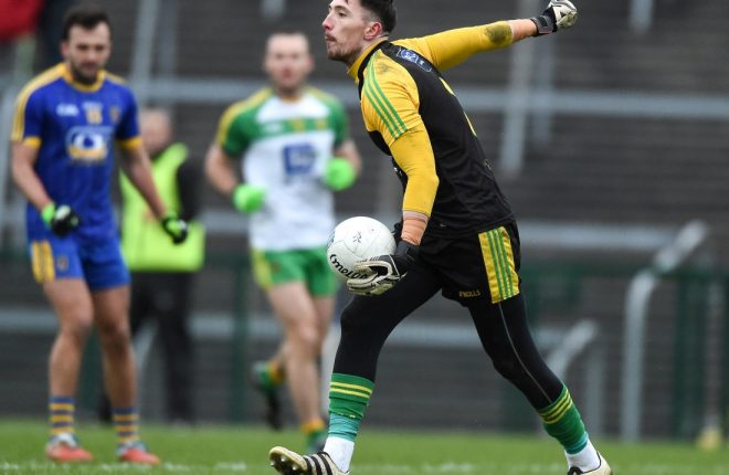 Mark Anthony McGinley in action for Donegal last week