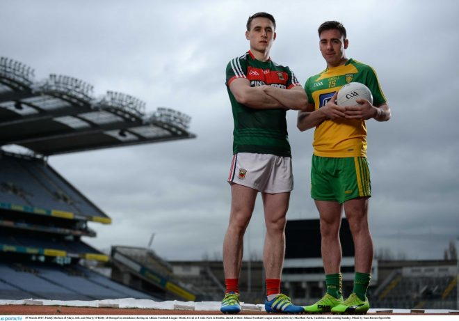 Marty O'Reilly and Mayo's Paddy Durkan