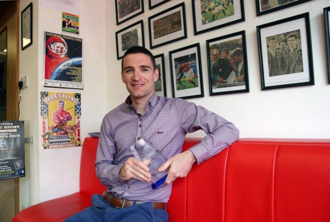 Marty Lynch, winner of the Donegal News Sports Personality Award for March